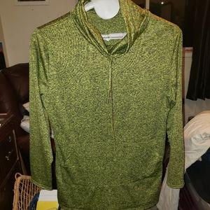 BOGO Cowl neck athletic xl green Splatter color